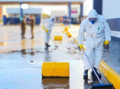 Dry Port undergoes preventative sanitization on the border between Brazil and Argentina